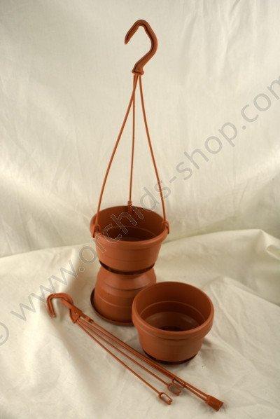 Terracotta Hangpot Met Hanger (10 cm) - 5 Stuks
