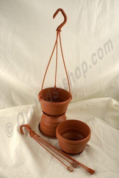 Terracotta Hangpot Met Hanger (10 cm) - 10 Stuks