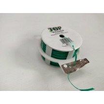 Binddraad Groen Plastic coating + houder met snijmes  50M