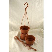 Terracotta Hangpot Met Hanger (12 cm) - 10 Stuks